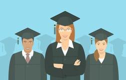 青年人毕业生学士学位平的概念 免版税图库摄影