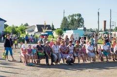 青年天的庆祝在卡卢加州地区在2016年6月27日的俄罗斯 免版税库存照片