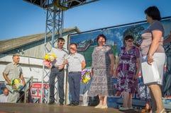 青年天的庆祝在卡卢加州地区在2016年6月27日的俄罗斯 库存图片