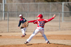 小职业棒球联盟投手 图库摄影