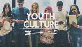 青年文化生活方式少年年轻十几岁概念 免版税库存图片