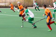 青年曲棍球竞争 免版税图库摄影