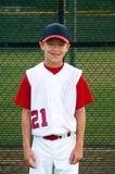 青年棒球运动员画象 免版税库存图片