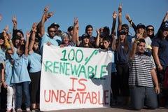 青年气候活动家抗议 库存图片