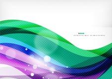 青绿的紫色线背景 免版税图库摄影