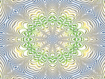 青黄色绿的坛场 免版税库存图片