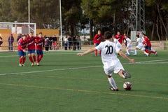 青年足球 免版税库存图片