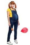 青年青少年的女孩怀孕 免版税库存图片