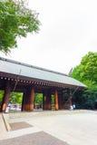 靖国神社Shinmon木门道入口v 免版税库存图片