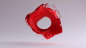 静止画面红色油漆飞溅 库存例证