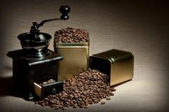静物画咖啡 免版税库存图片