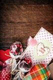 静物画心脏卡片 库存图片