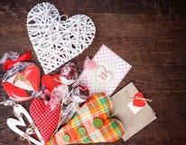 静物画心脏卡片 免版税库存图片