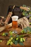 静物画用啤酒 库存图片
