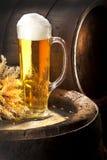 静物画用啤酒 免版税图库摄影
