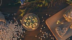 静物画用在桌上的鸡豆 影视素材