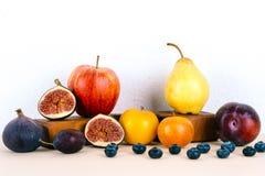 静物画用有机季节性果子 库存照片