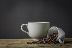 静物画咖啡杯 免版税库存图片