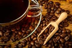 静物画用咖啡 图库摄影