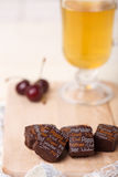 静物画用巧克力糖 库存照片