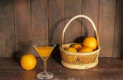 静物画用橙汁 免版税库存照片