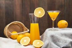 静物画用橙汁 免版税图库摄影