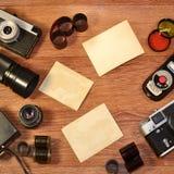 静物画用老摄影设备 免版税图库摄影