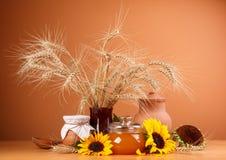 静物画用自然新鲜食品 库存照片