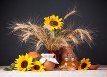 静物画用自然新鲜食品 图库摄影