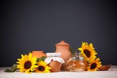 静物画用自然新鲜食品 免版税库存图片