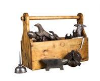 静物画-老木工具箱 图库摄影