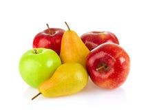 静物画苹果和梨 图库摄影