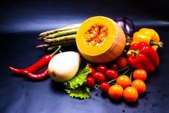 静物画-被分类的菜 免版税库存图片
