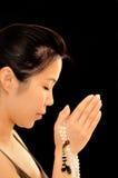 静音的祷告 免版税库存照片