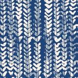 靛蓝传染媒介领带染料无缝的样式 向量例证