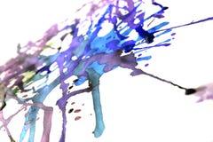 靛蓝喷溅 免版税库存图片
