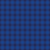 靛蓝格子花背景无缝的样式 库存照片