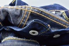 靛蓝色牛仔布 免版税库存图片