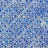 靛蓝色砖地装饰品汇集 五颜六色的摩洛哥人, 免版税库存图片
