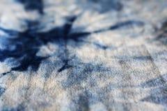 靛蓝被洗染的织品 图库摄影