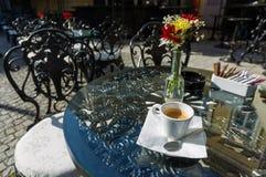 索非亚保加利亚街咖啡馆 库存照片