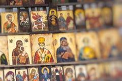 索非亚保加利亚2016年4月14日:木头做了正统宗教痛苦 图库摄影