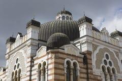 索非亚保加利亚4月14日:索非亚犹太教堂是最大的同步符 库存照片