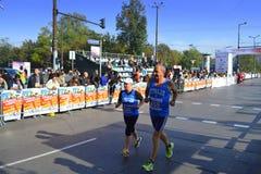索非亚国际马拉松参加者 免版税库存图片
