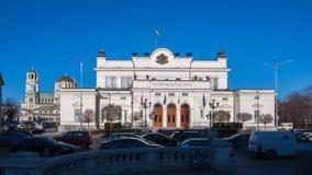 索非亚,保加利亚- 2016年12月20日:国民议会惊人的照片在市索非亚 免版税库存图片