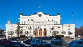 索非亚,保加利亚- 2016年12月20日:国民议会惊人的照片在市索非亚 免版税图库摄影