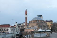 索非亚,保加利亚- 2015年3月01日:Banya Bashi清真寺 库存图片