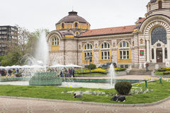 索非亚,保加利亚- 4月14 :中央公开矿物浴房子 库存图片
