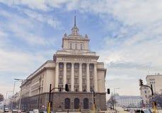 索非亚,保加利亚- 1月03 :保加利亚的一院的保加利亚议会国民议会的位子, 2017年1月03日 免版税库存图片