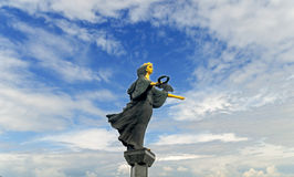 索非亚,保加利亚- 1月03 :圣徒的索非亚在Serdica广场的Sveti索非亚亦称纪念碑, 2017年1月03日在索非亚,保加利亚 免版税库存图片